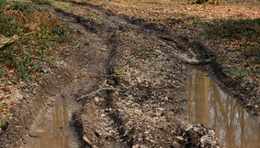 Leaching occurs when soil becomes saturated with water.
