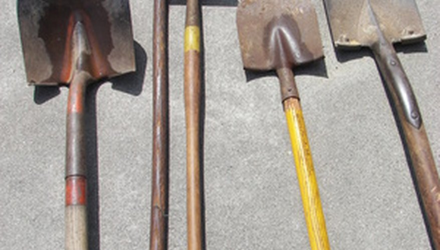 Shovels, hoes and rakes can be used to build grades in small areas.