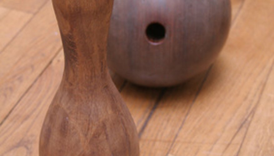 Turn old bowling balls and pins into crafted creations.