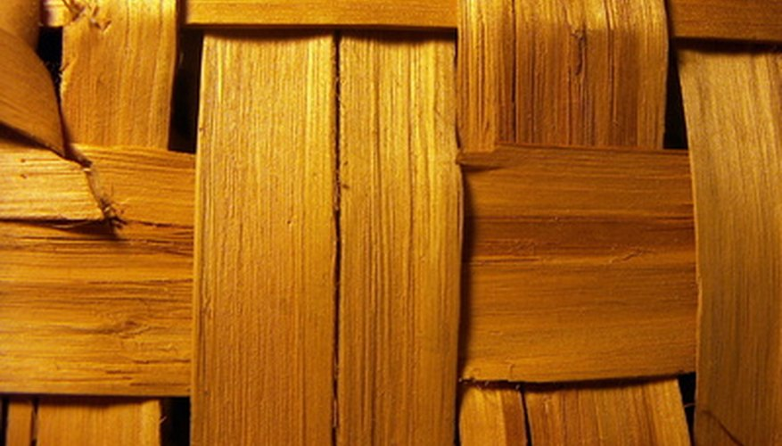 A crosshatch pattern using wood strips.
