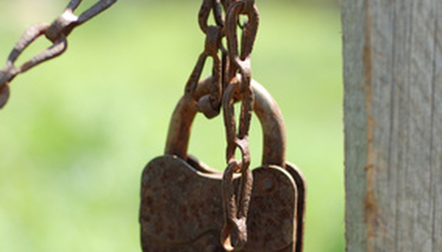 Antique padlocks are often rusty making identifying the metal easier.