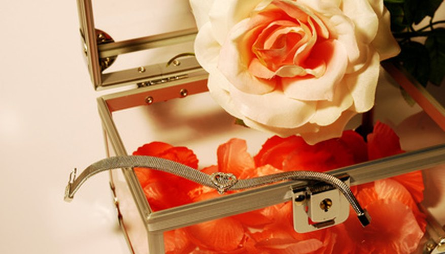 A spring hinge can keep a jewelry box propped open.