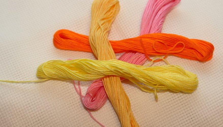 Embroidery floss comes in a variety of colors.
