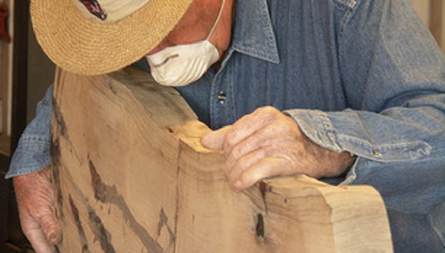 Woodworking can generate a lot of dust, so it's best to work in a garage or outside.