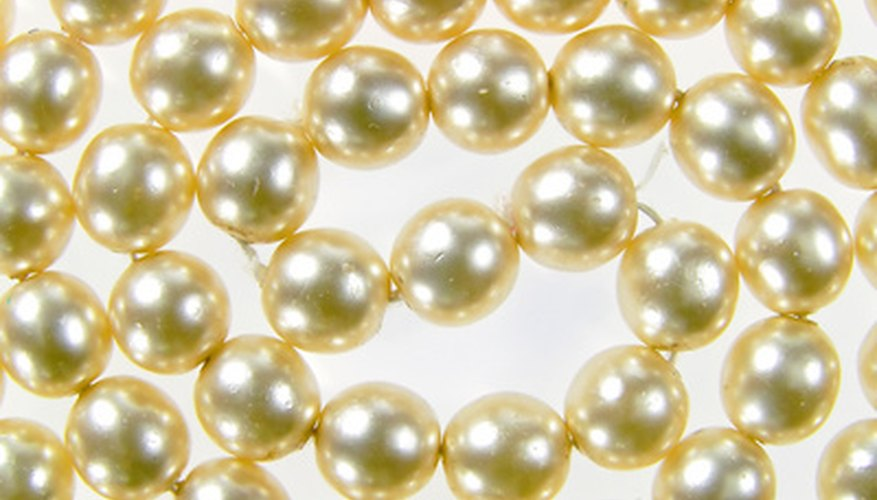 The silk cord that holds pearls together deteriorates over time.