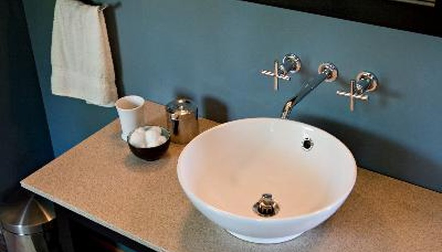 Sink height will vary from room to room.