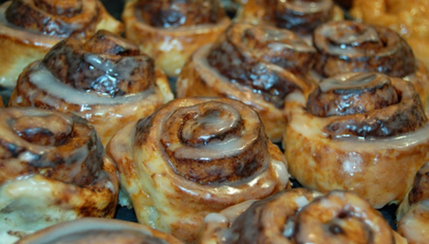 Offer tasty baked treats such as cinnamon rolls.