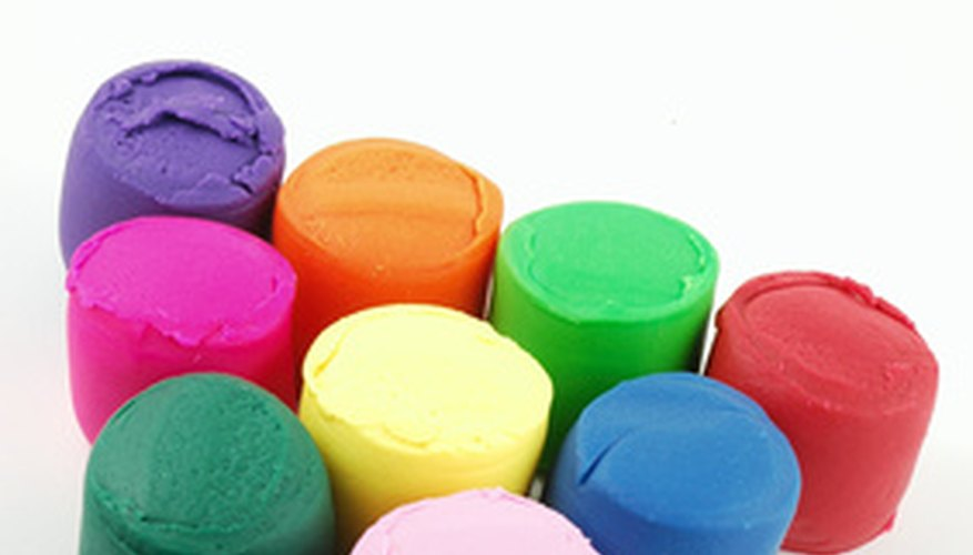 Homemade play dough can be colored like commercial play dough.