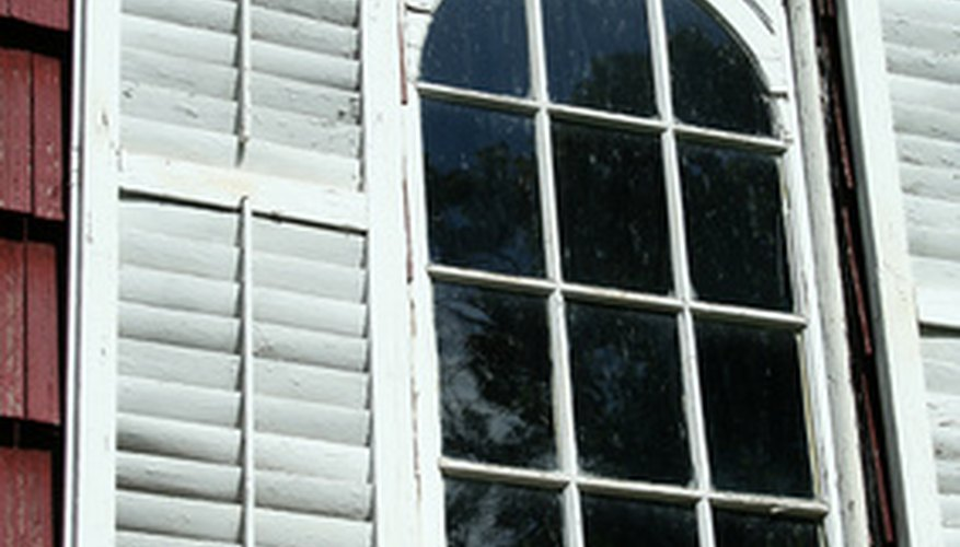 The planks or louvers on a plantation shutter may require repairs.