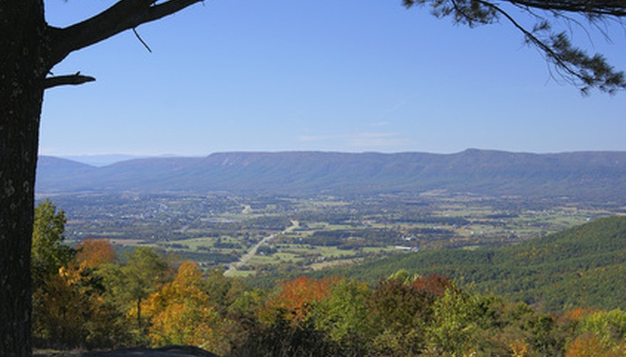 The Blue Ridge Mountains are home to old mountains and varied soils.