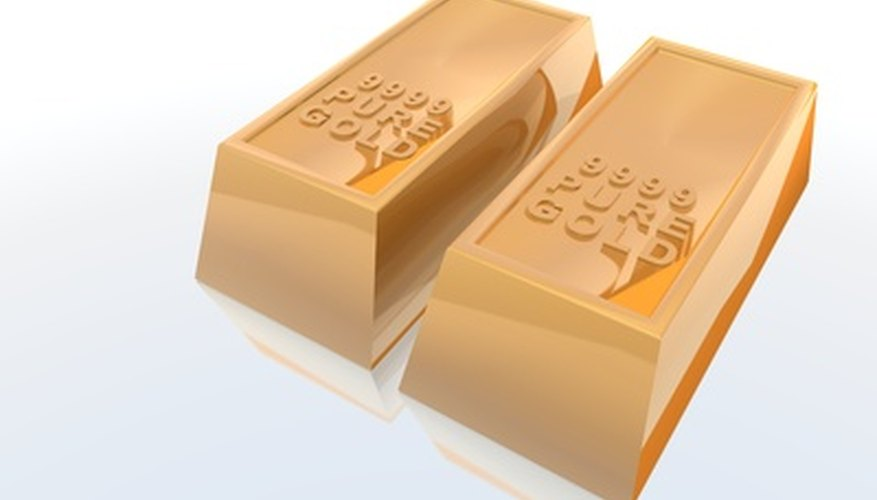 Gold is a very dense material.