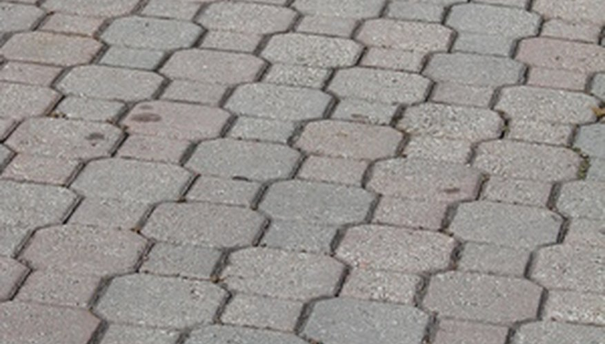 The lines in stamped concrete take the place of control joints.