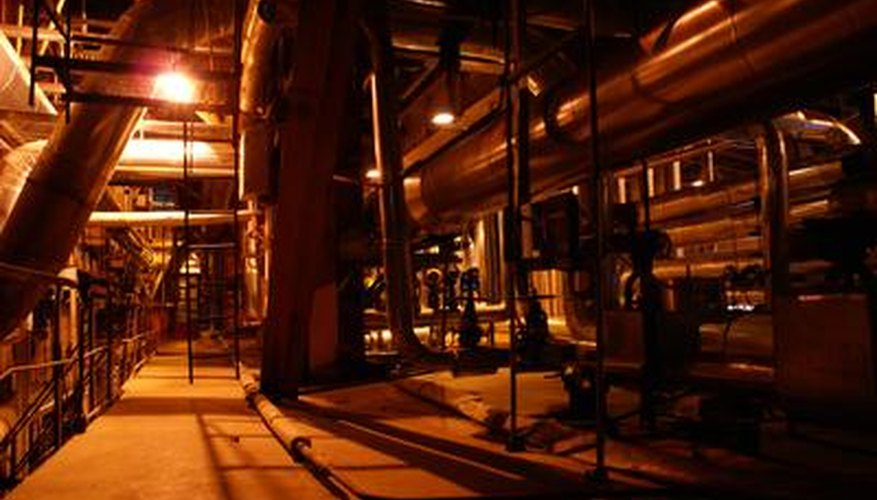 High-pressure steam is used by industry and in generating power.