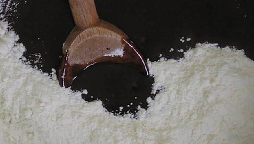 The gluten in flour helps the plaster form a glue-like substance.