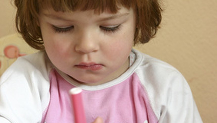 Washable markers are safe for children.