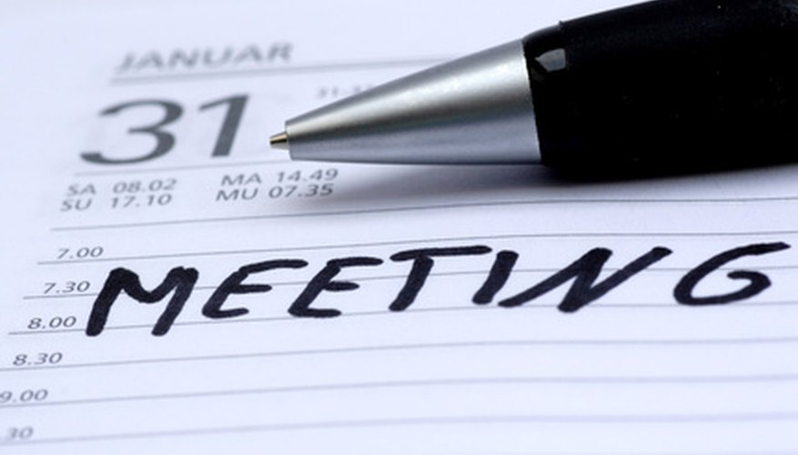 Be persistent about scheduling meetings.