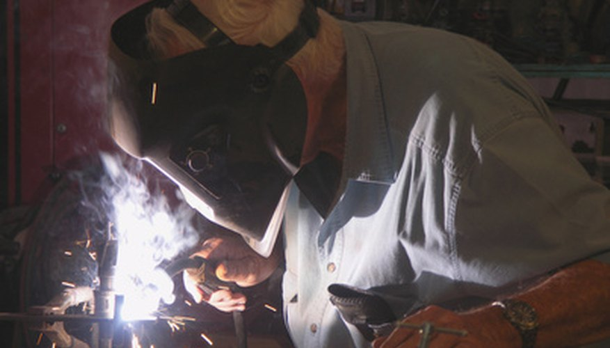 Unprotected eyes can be permanently damaged while welding.