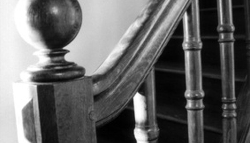 Newel post and handrail