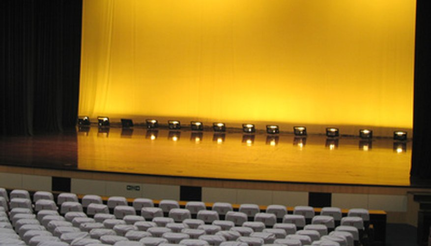 Proscenium stages are the most common in Western theaters.