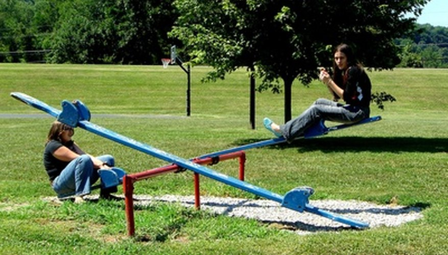 Teeter-totters rely on the same principles as catapults.