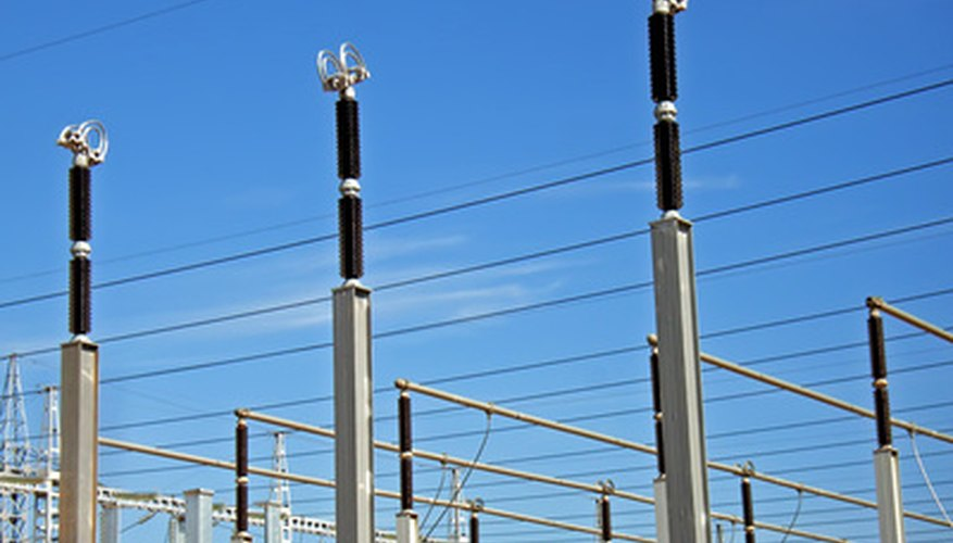 Substations alter levels of voltage with the use of transformers.