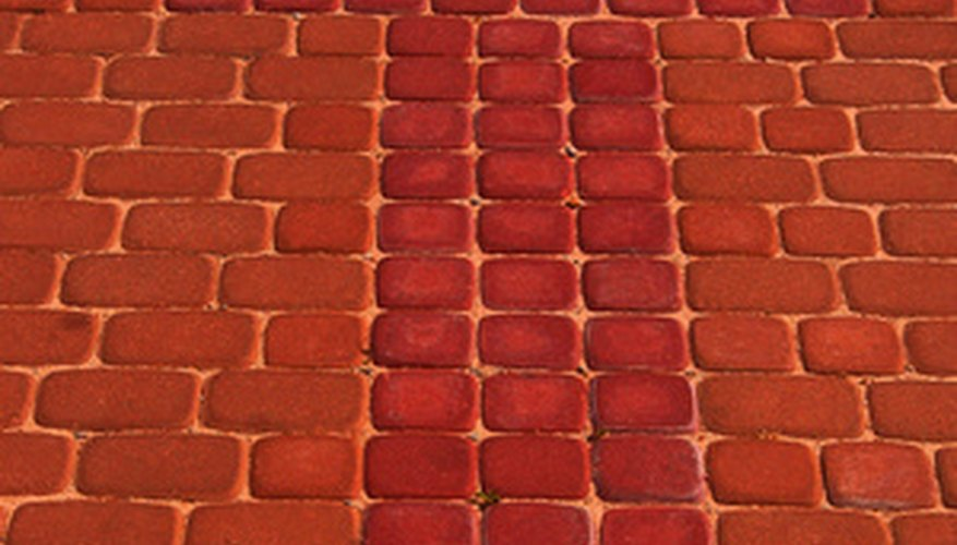Setting pavers in mortar helps keep them in place and discourages weed growth.