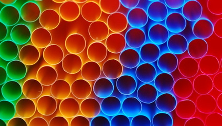 Short lengths of drinking straws act as diffusers in a small fan-powered wind tunnel.
