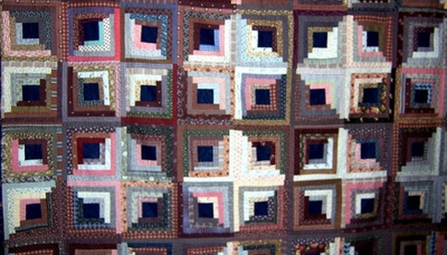 Traditional patchwork quilt patterns were prized for using up fabric scraps