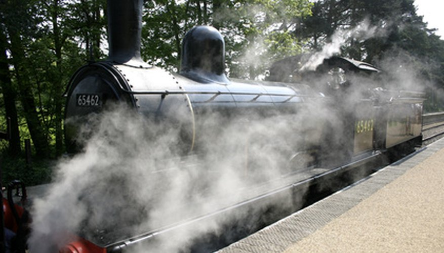 A steam engine has a low-pressure boiler.