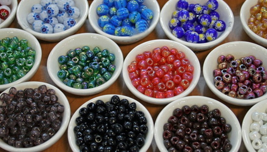 Use multicolored beads to create a pattern.