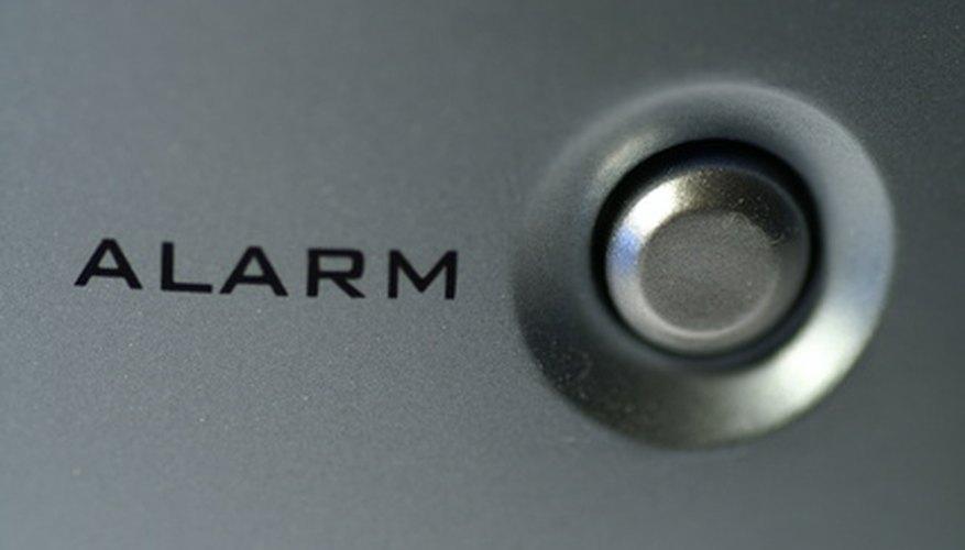 Piezo buzzers are often used in alarms.