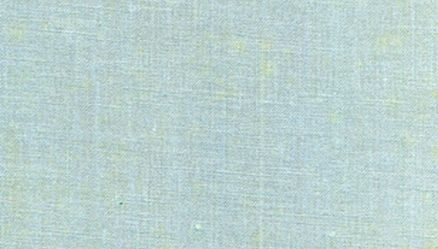 Recreate the textured weave of linen on your walls with paint.
