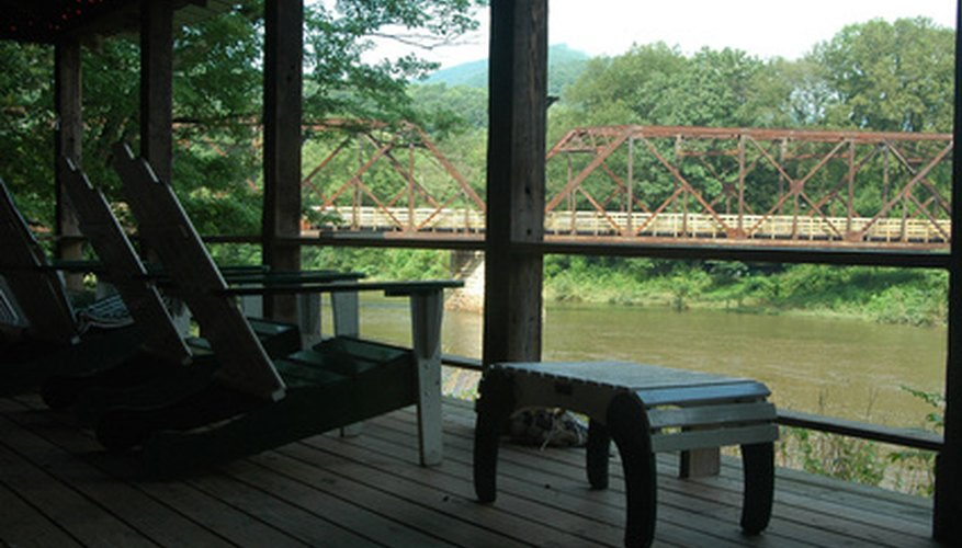 A river view is even better from under a porch awning.