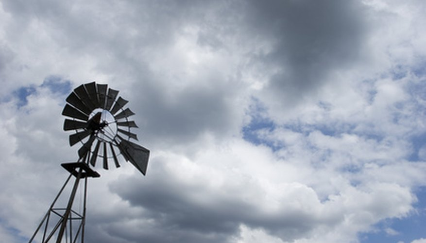 Windmills are used for converting wind energy into electricity