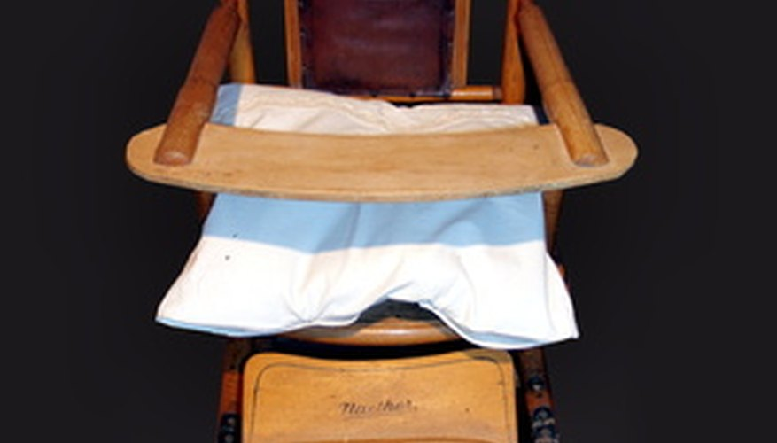 Many wooden high chairs are considered family heirlooms.
