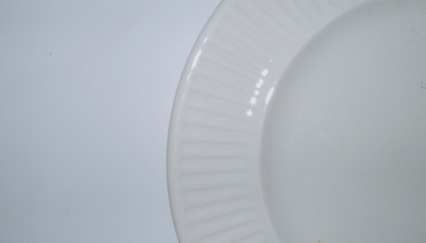 For decoration, ironstone dinnerware often has molded rims.