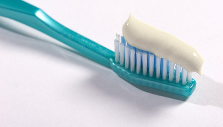 Swallowing toothpaste is discouraged, because too much fluoride can permanently stain teeth.