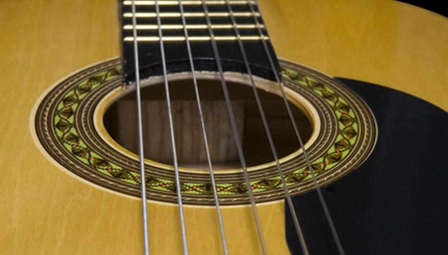 The serial number on Takamine guitars can be seen through the sound hole.