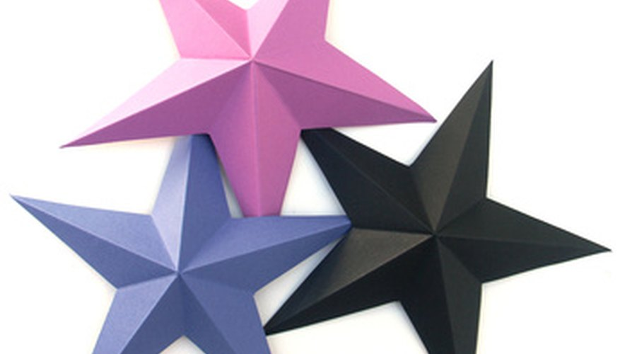 A five-point origami star is easy to make.