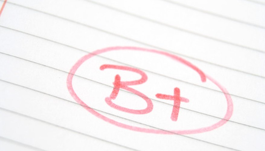 Academic success is measured with grade point average.