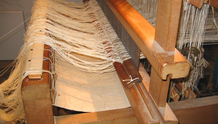 Simplify the concept of weaving when you build a wooden weaving loom.