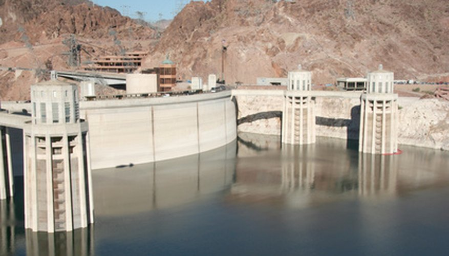 Hydroelectric plants transform potential energy of water into electricity.