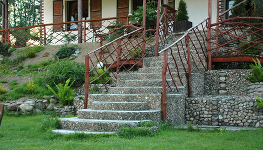 Exterior stairs can be both functional and decorative.
