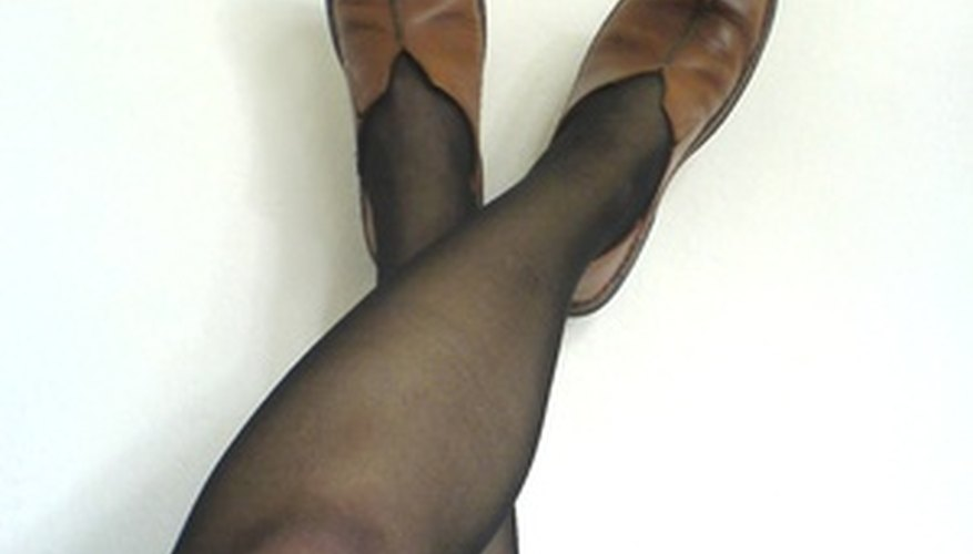 A basic pair of pantyhose can be turned into a shrug.