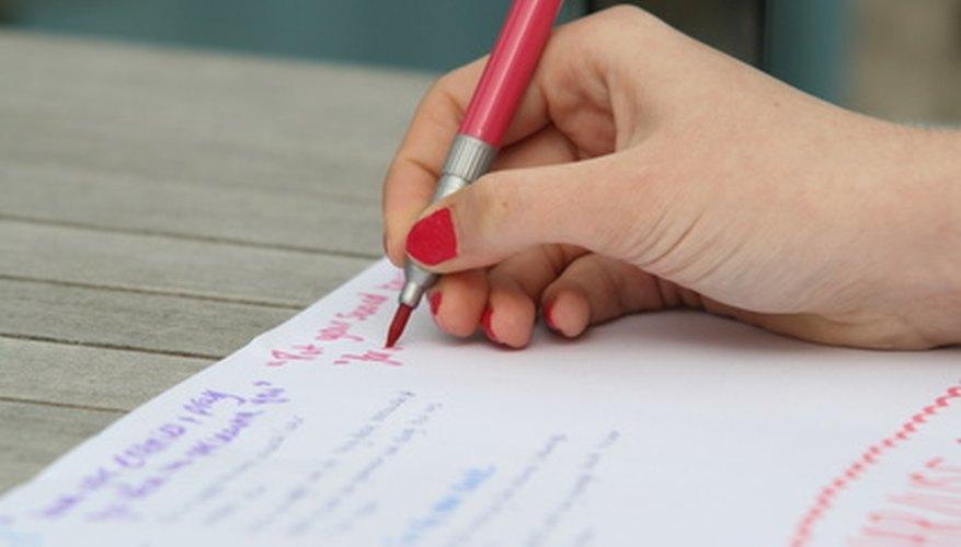 Write down a list of goals.