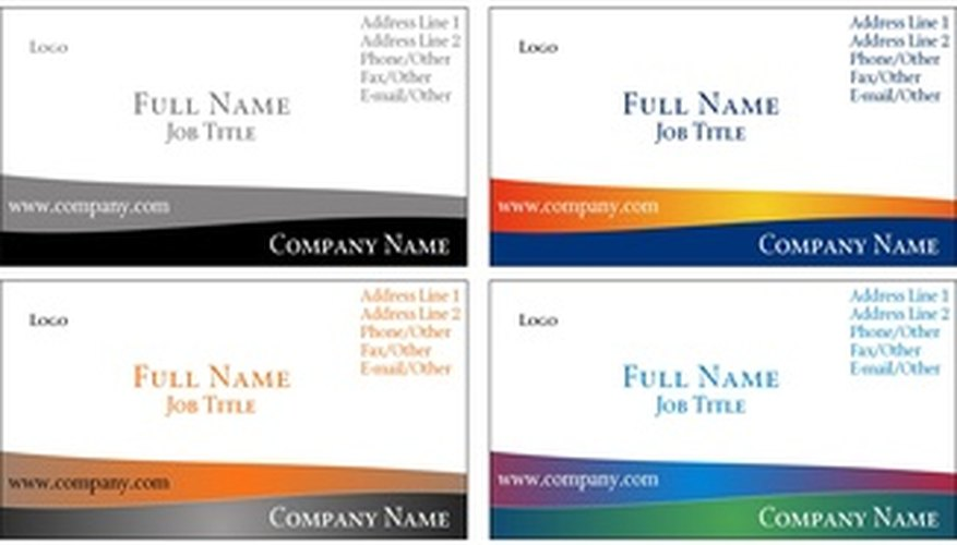 How To Get Free Business Cards For Nonprofit Organizations Bizfluent