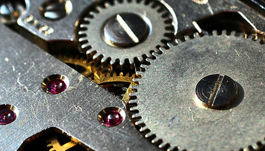 A variety of materials are used to make gears and pulleys.