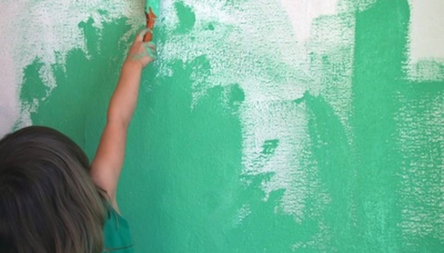 While dark green is a bold choice, feel free to paint the camper walls as you wish.