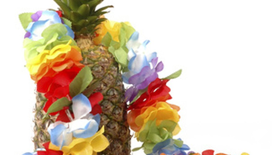 Create your own lei out of paper, real or artificial flowers.