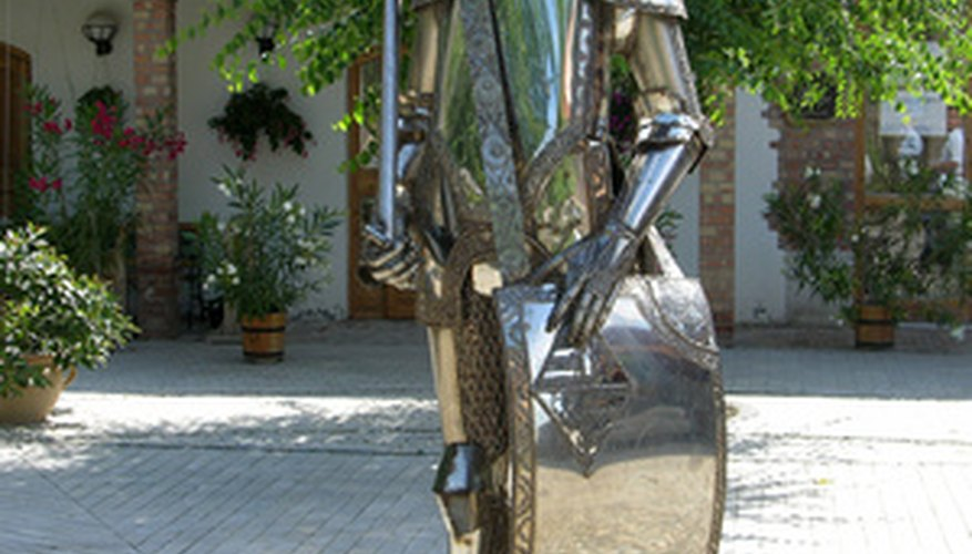 Metal sculptures are created with different materials based on the final form and use.
